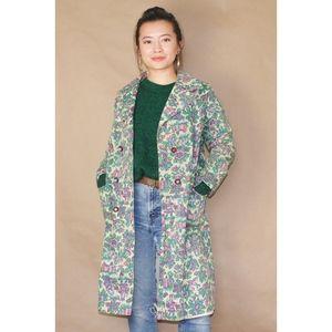 vtg 70s americana printed fall jacket
